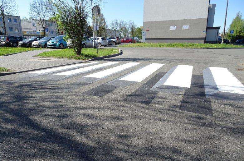 Trójwymiarowe oznakowanie poziome przejścia dla pieszych