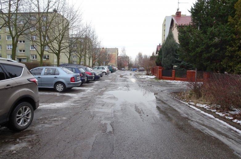 Ulica po opadach śniegu
