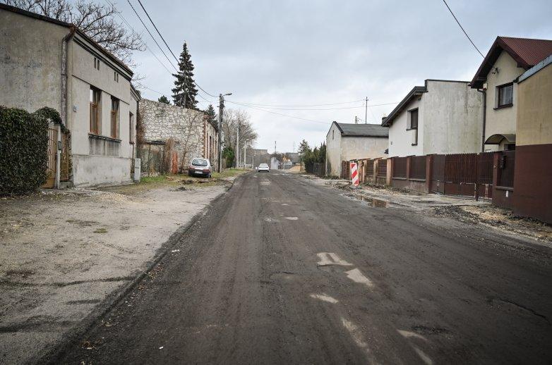 Ulica Złota w trakcie przebudowy